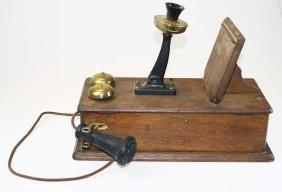 Western Electric Co. oak wall telephone