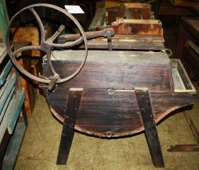 19th c hand crank washing machine