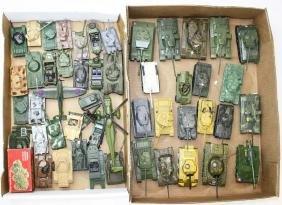 WWII diecast miniature tanks & vehicles