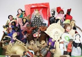 mid 20th c costume dolls