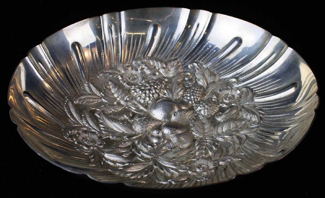 Kirk sterling silver repousse berry bowl