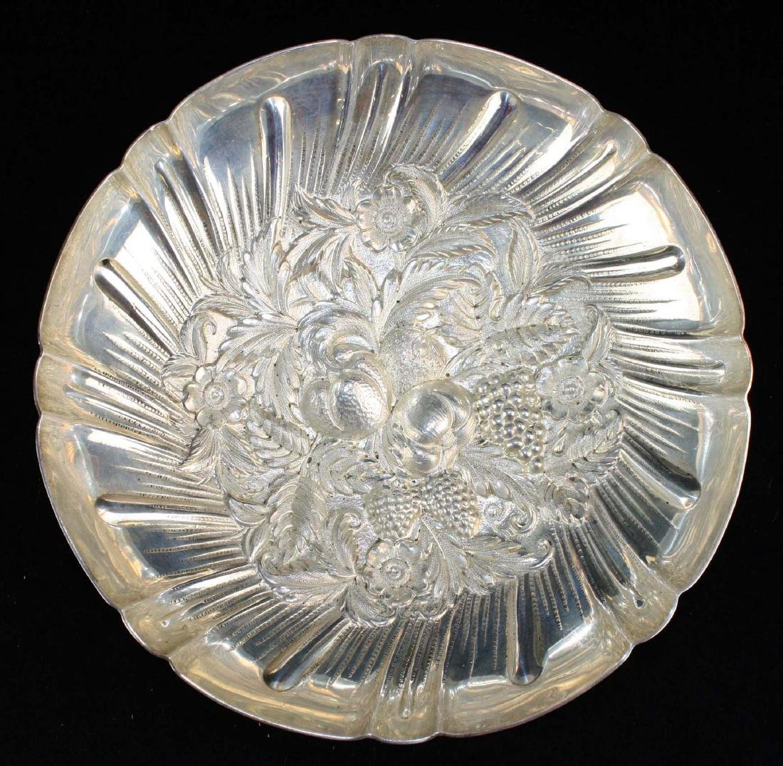 Kirk sterling silver repousse berry bowl - 2