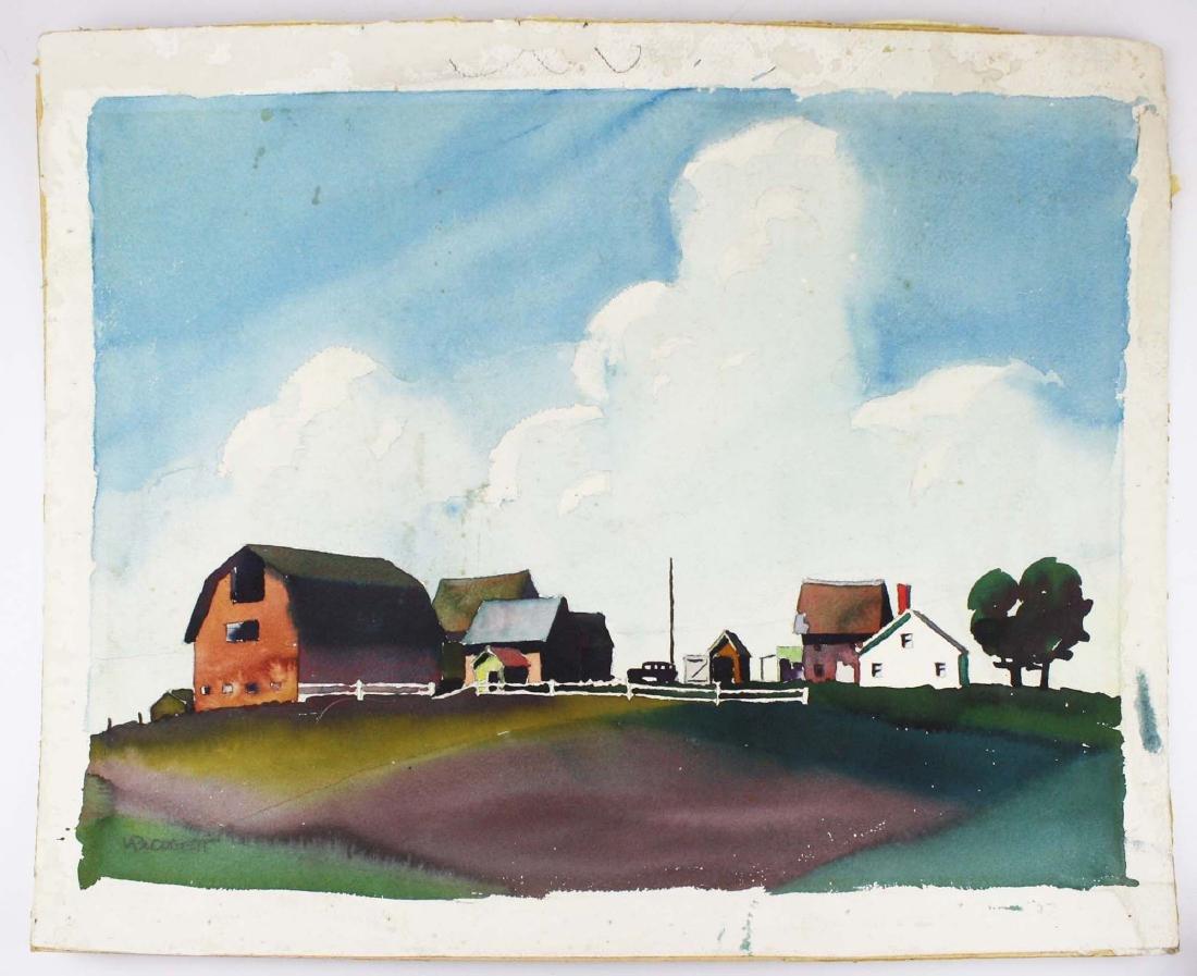 Walton Blodgett (VT 1908-1963) Farmyard