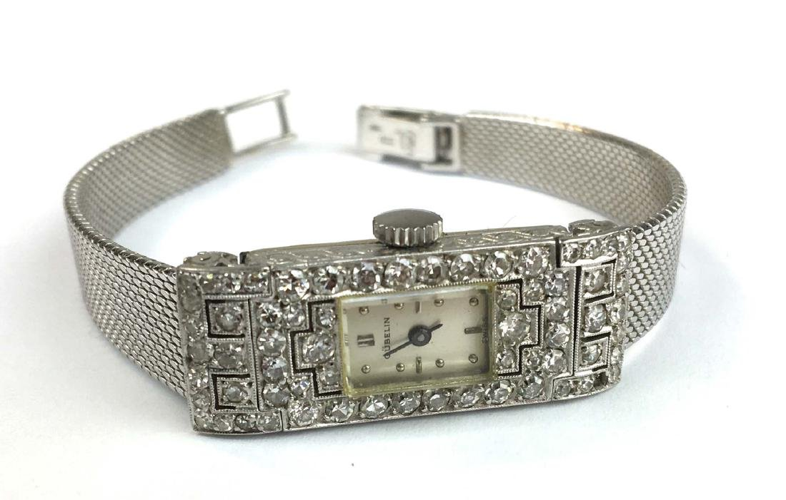 18 k w g & diamond Gubelin ladies wrist watch