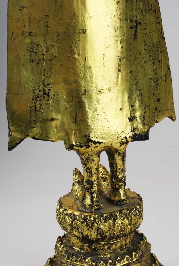 Gilt bronze female deity buddha. - 8