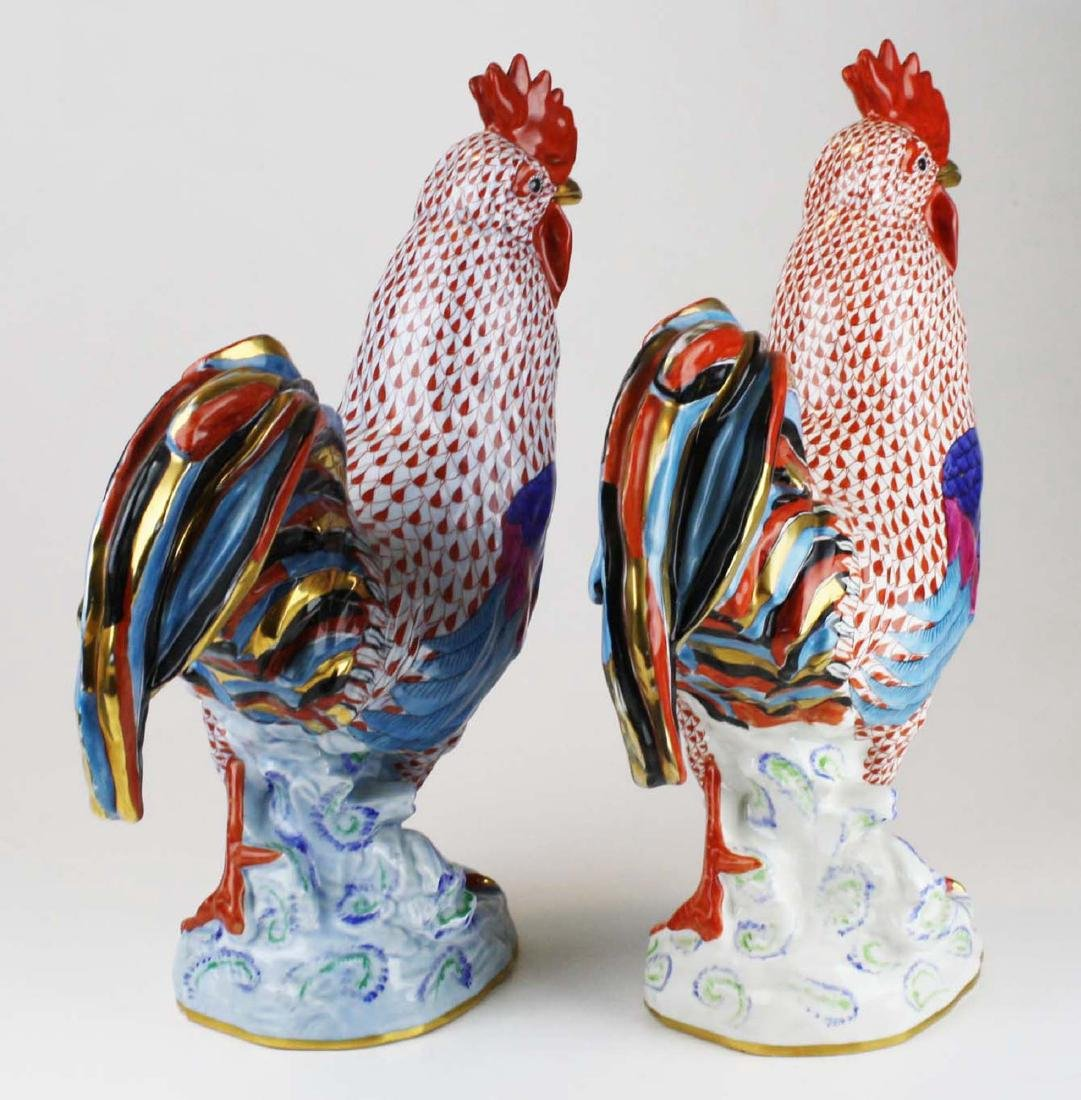 Two large Herend rooster figures - 3