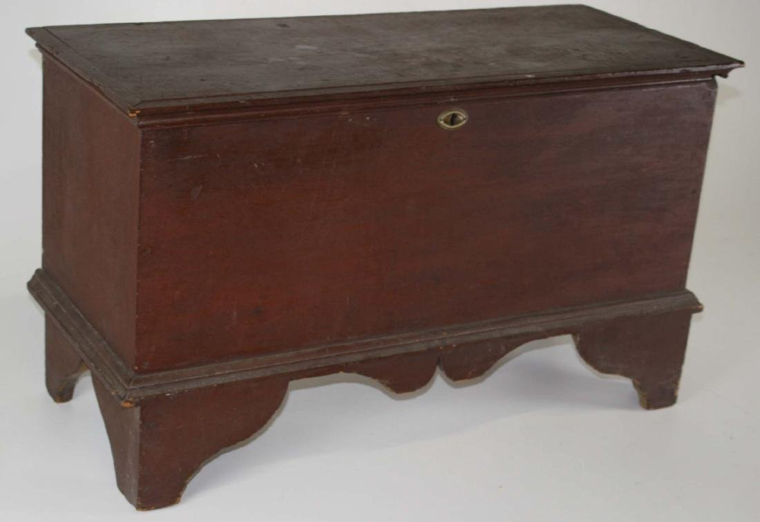 18th century bootjack end blanket chest