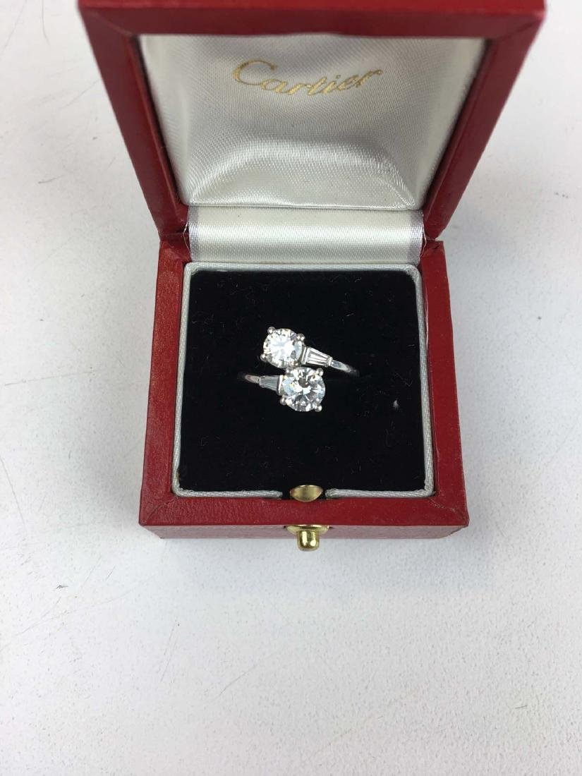 Diamond & platinum ladies ring - 2