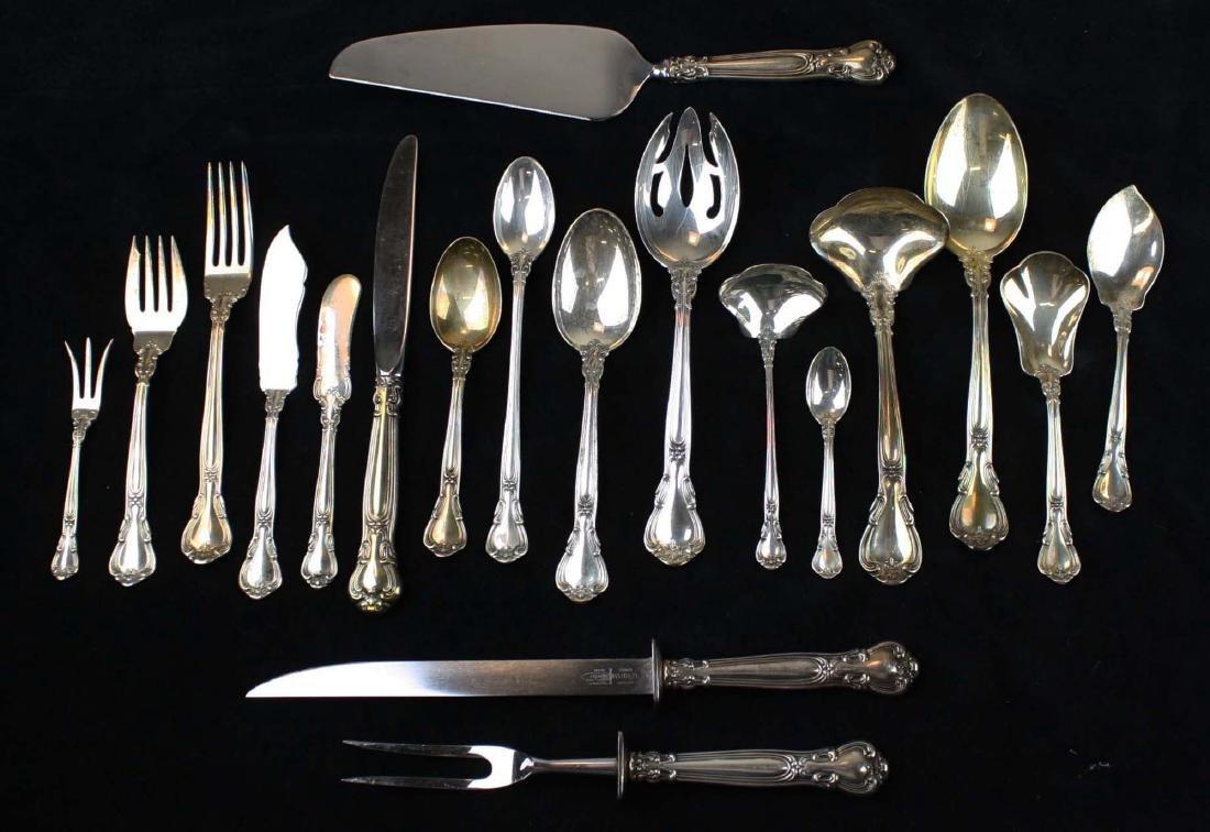 97 pcs Gorham Chantilly sterling flatware