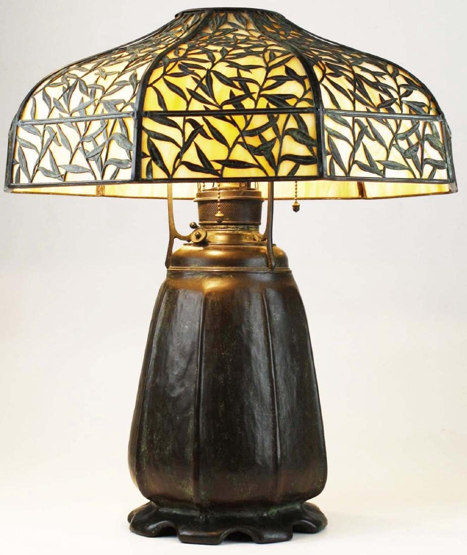 Handel Bamboo Leaf overlay table lamp - 3