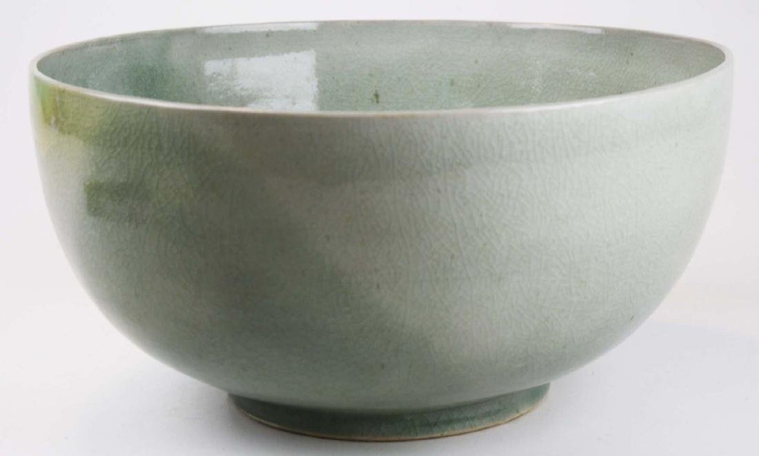 Qing Chinese celadon porcelain bowl - 3