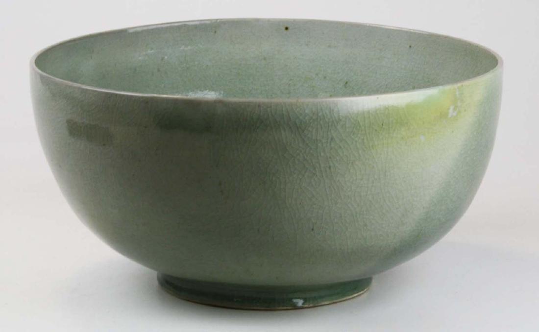Qing Chinese celadon porcelain bowl - 4