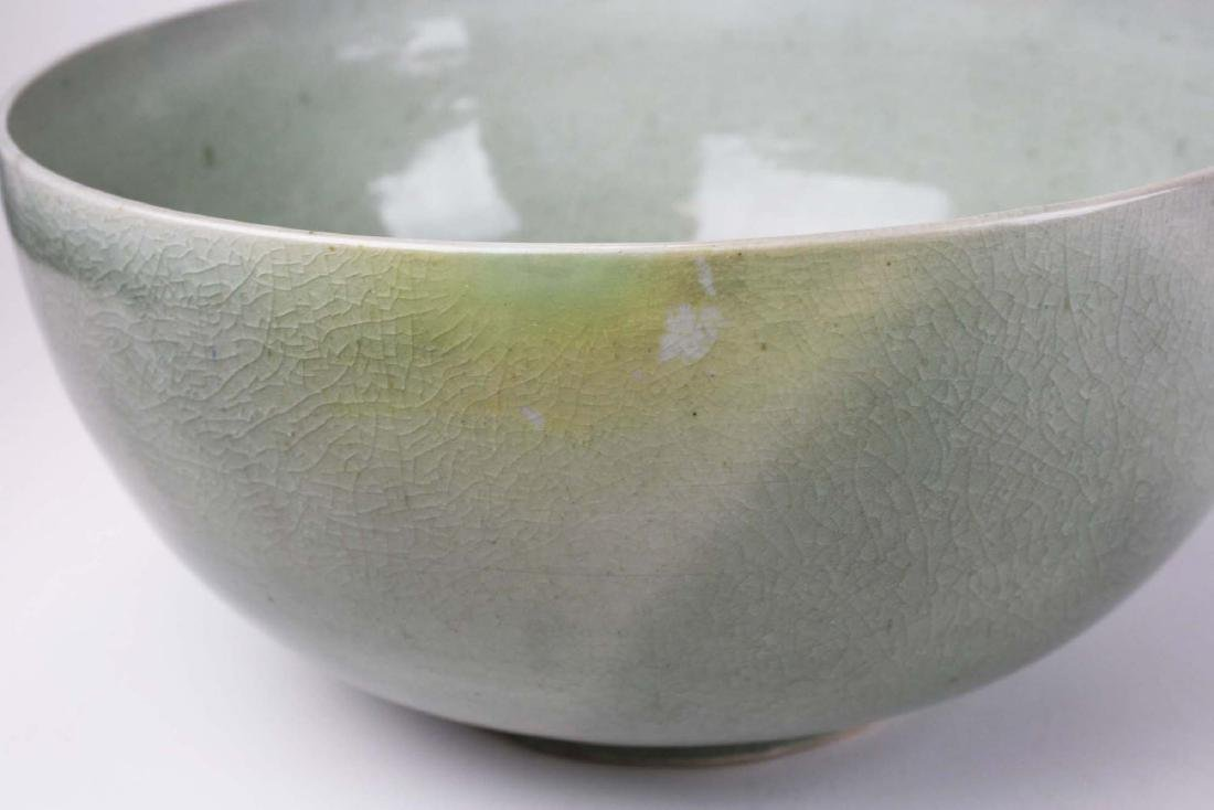 Qing Chinese celadon porcelain bowl - 5