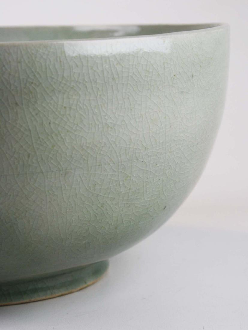 Qing Chinese celadon porcelain bowl - 9