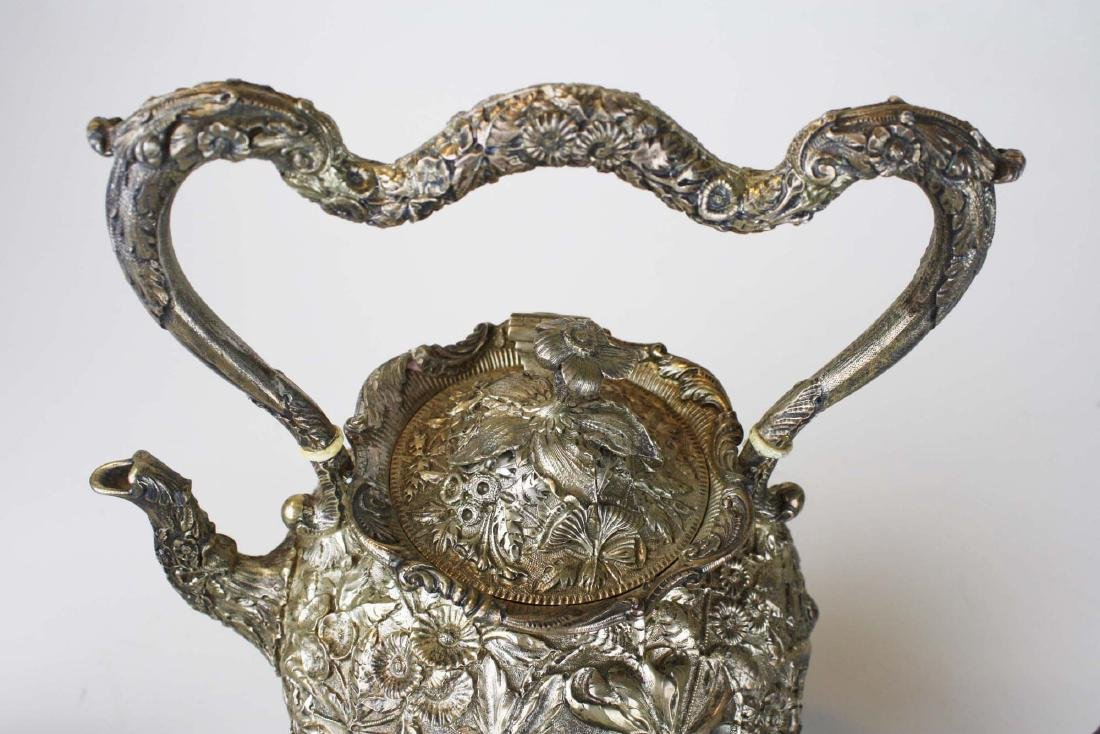Kirk repousse coin silver 6 pc tea set - 6