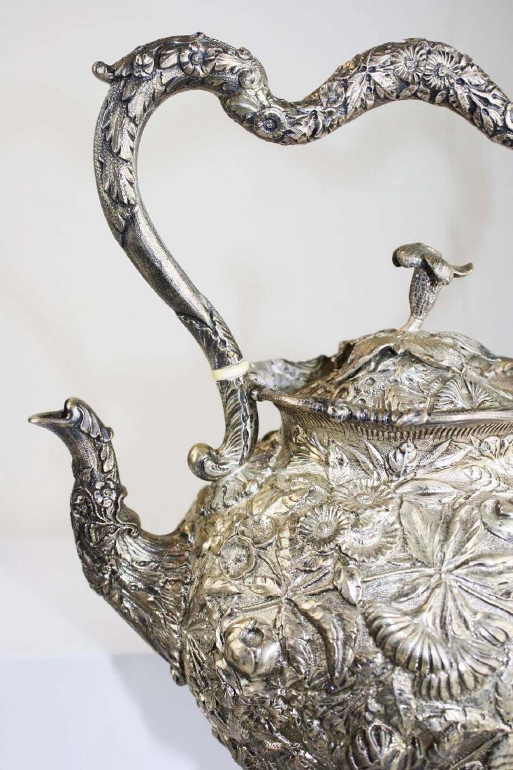 Kirk repousse coin silver 6 pc tea set - 7