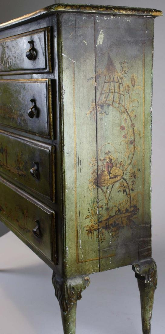 18th c Queen Anne 4 drawer chest - 5