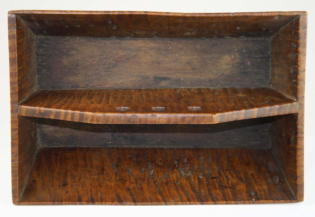 early 19th c NE tiger maple cutlery box - 4