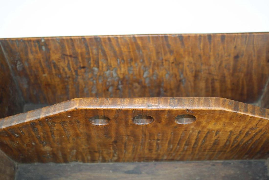 early 19th c NE tiger maple cutlery box - 5