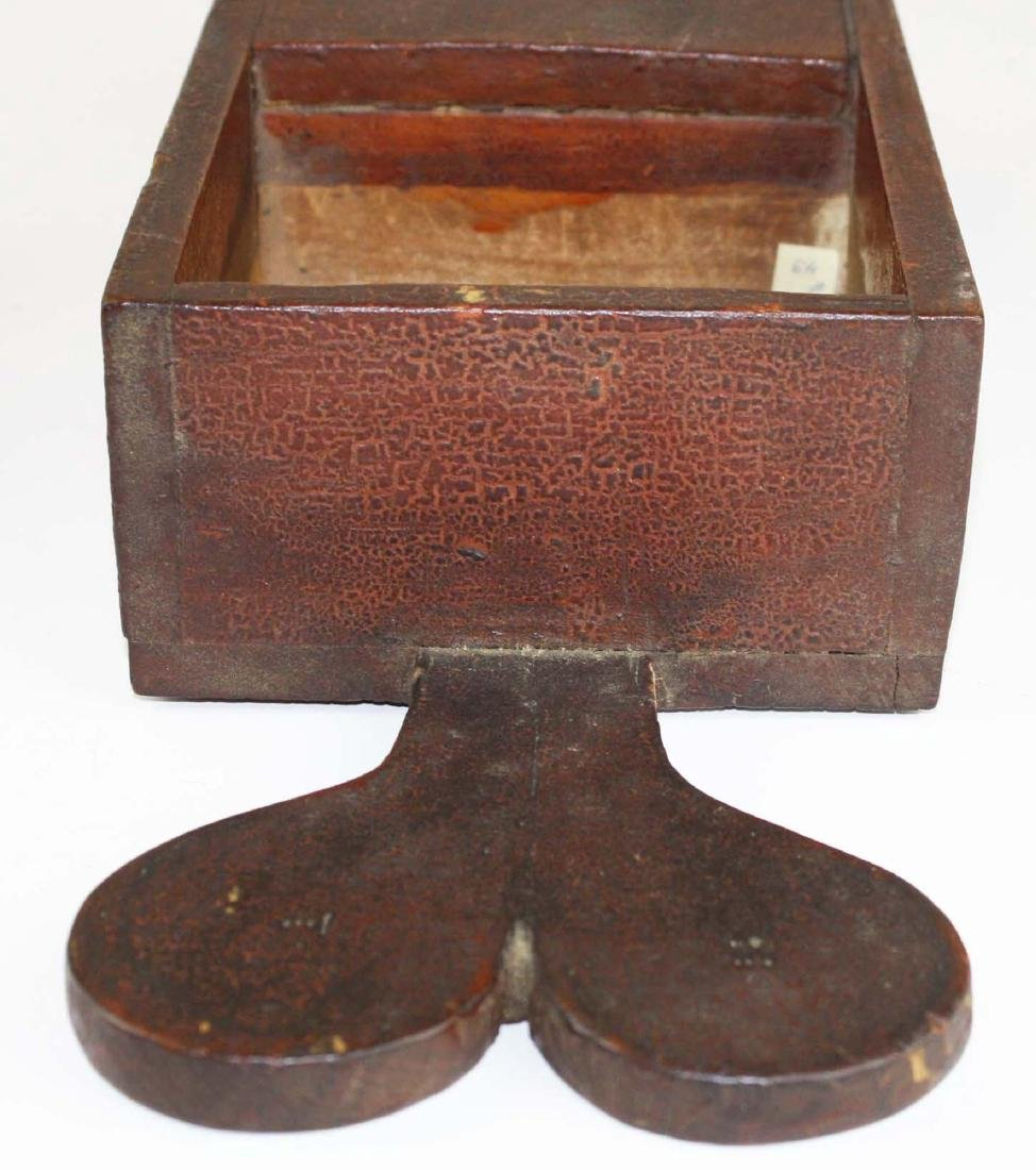 primitive ballot box in old red finish - 3