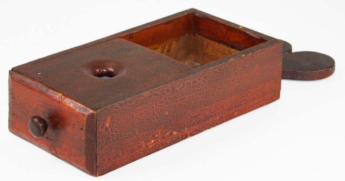 primitive ballot box in old red finish - 4