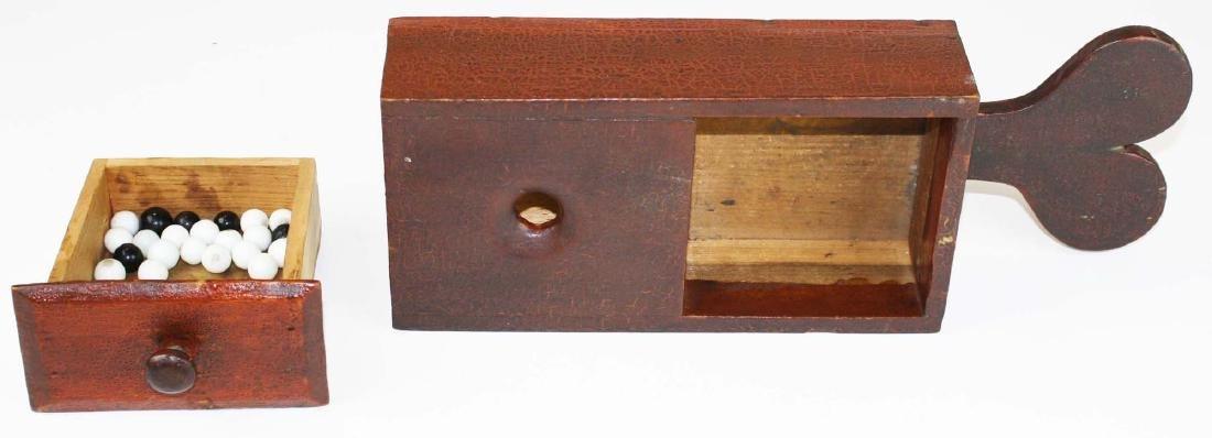 primitive ballot box in old red finish - 7