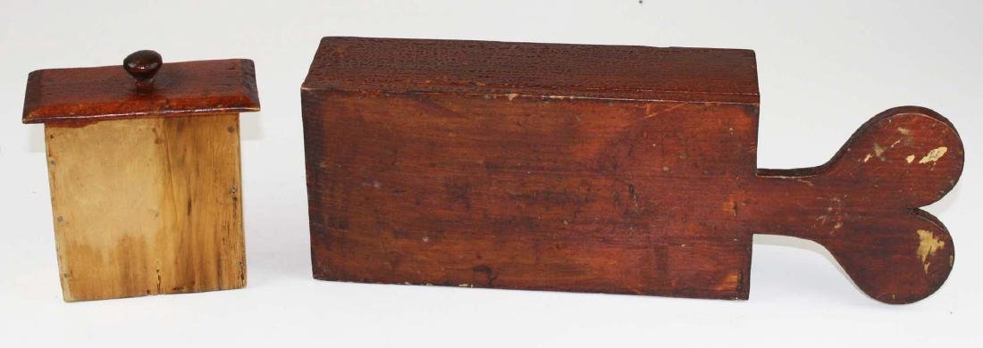 primitive ballot box in old red finish - 8