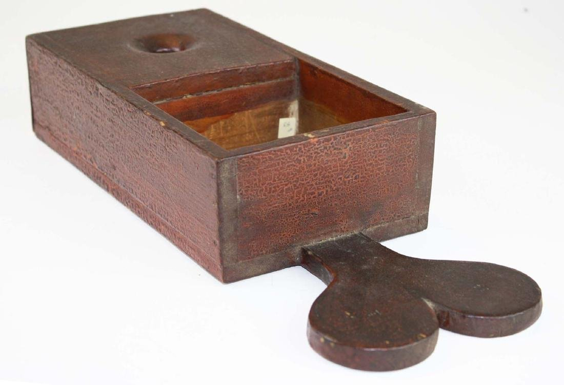 primitive ballot box in old red finish - 9