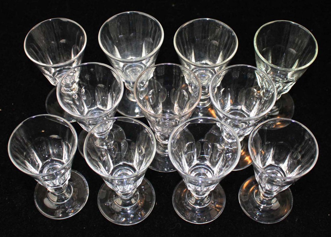 11 early knob stem blown sherry glasses - 4