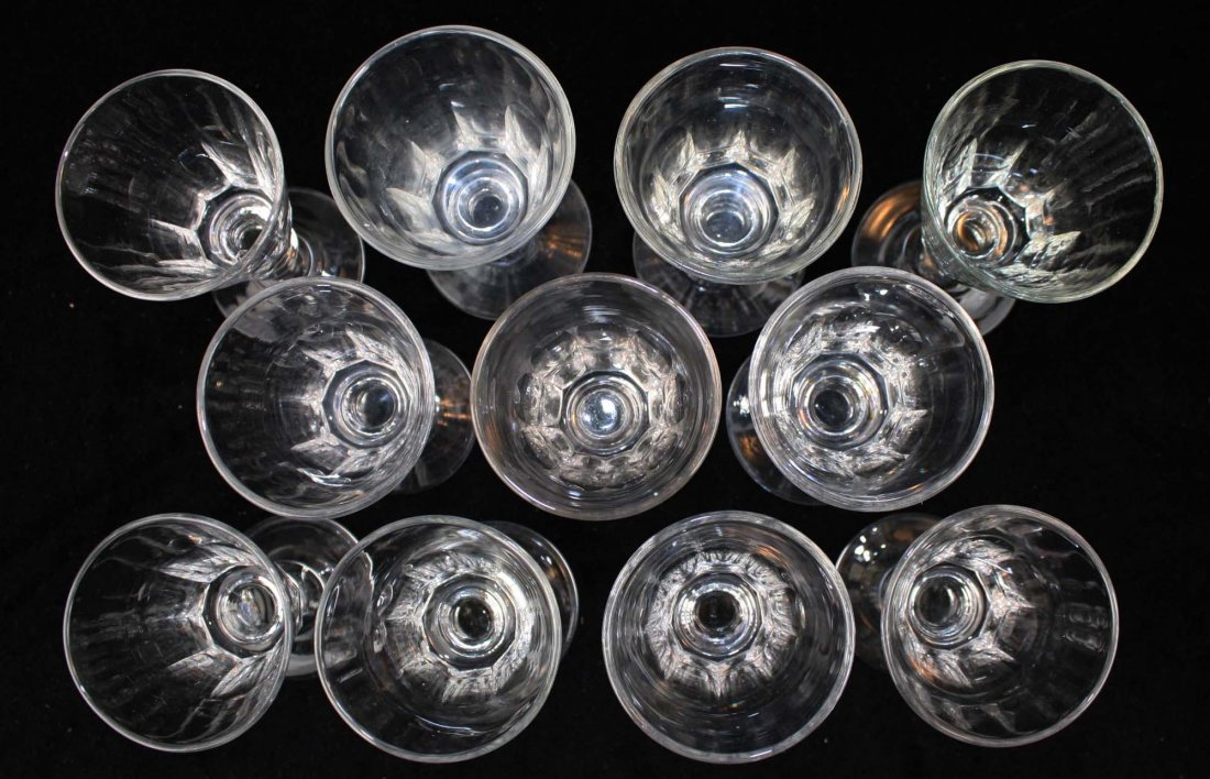 11 early knob stem blown sherry glasses - 5