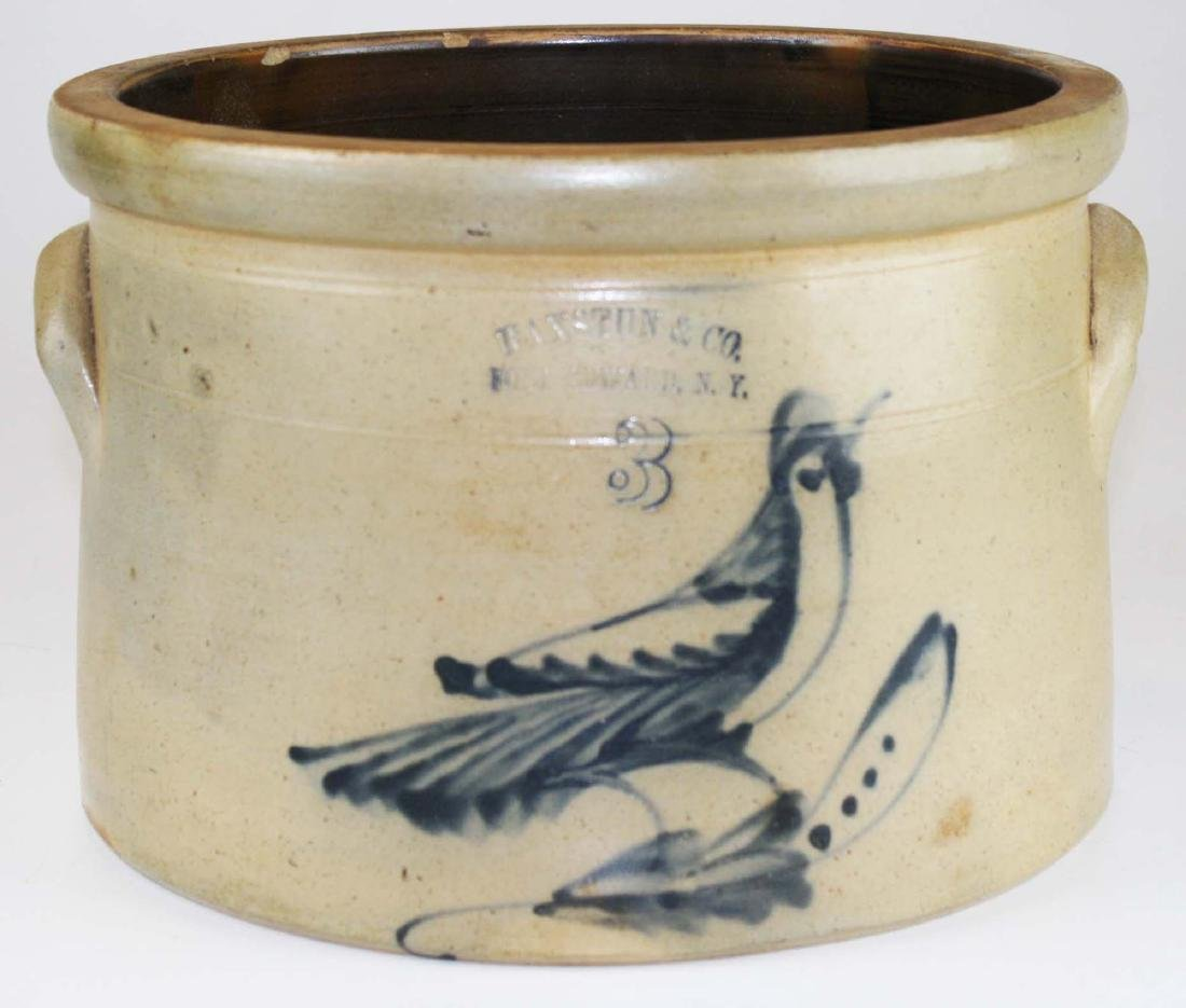 Ft Edward, NY bird decorated crock