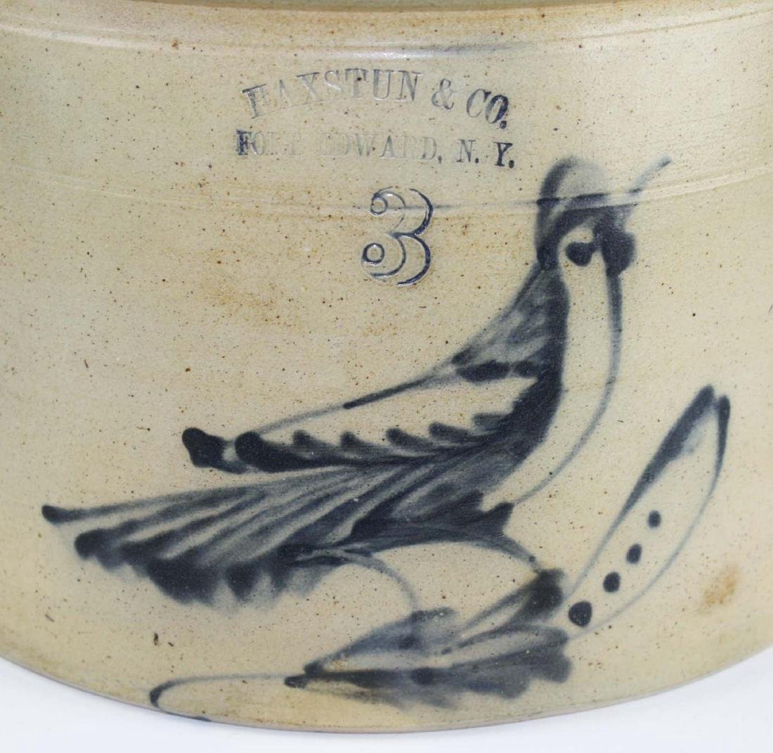 Ft Edward, NY bird decorated crock - 2