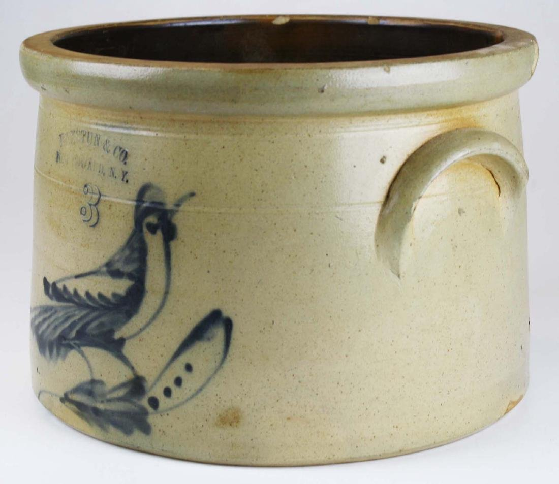 Ft Edward, NY bird decorated crock - 3