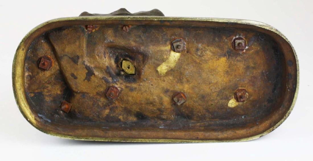 A Laplanche signed bronze figural group - 9
