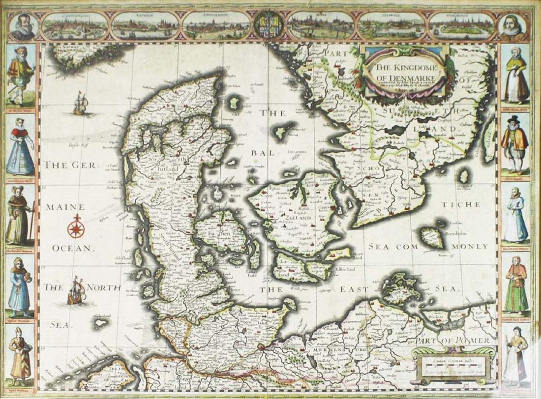 1626 John Speede map Kingdom of Denmark - 2