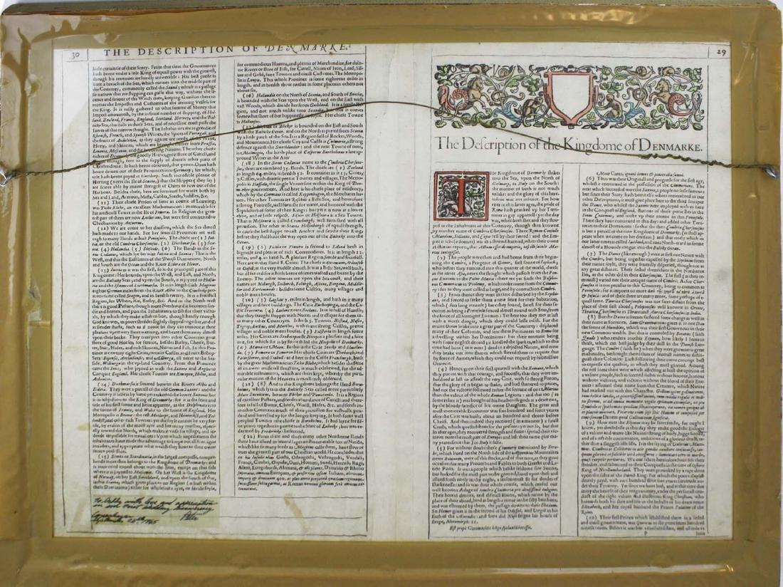 1626 John Speede map Kingdom of Denmark - 3