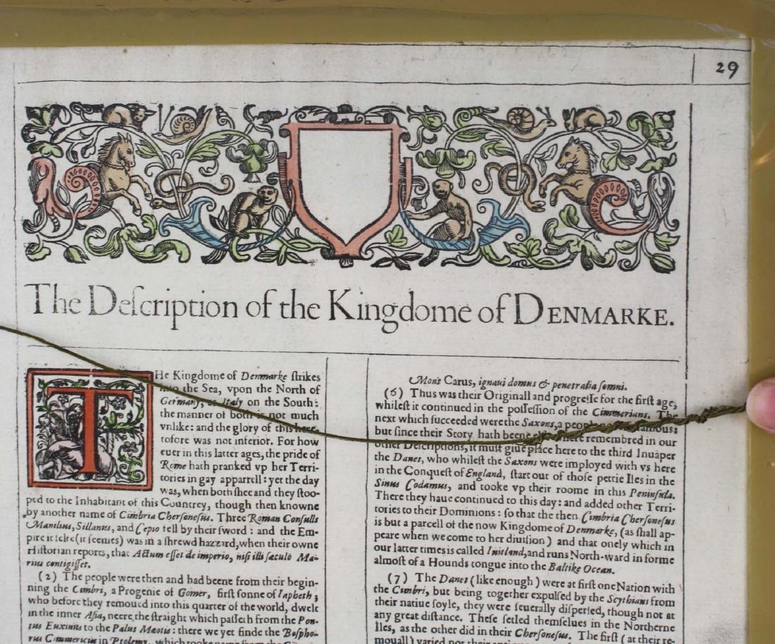 1626 John Speede map Kingdom of Denmark - 5