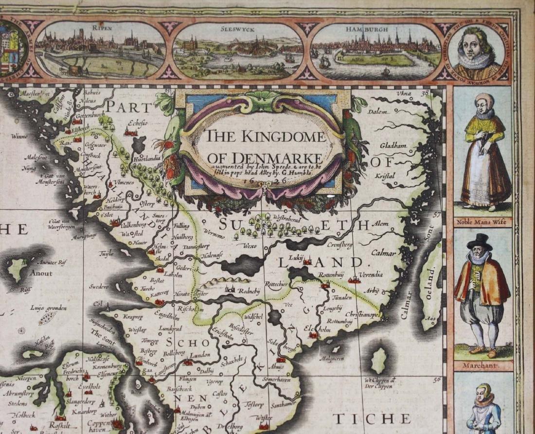 1626 John Speede map Kingdom of Denmark - 6