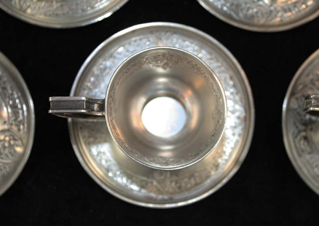 12 sterling demitasse cups and saucers - 3