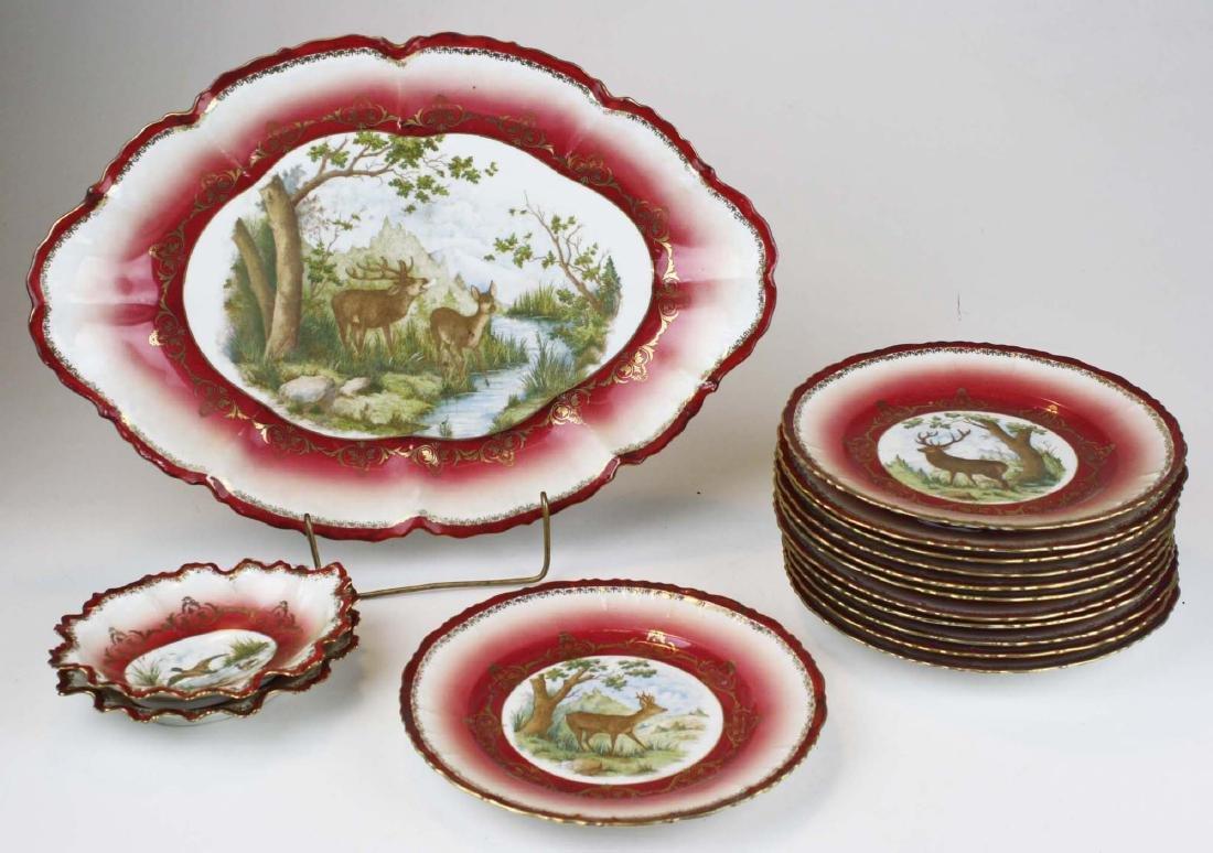 Moritz Zdekauer Austrian porcelain game set