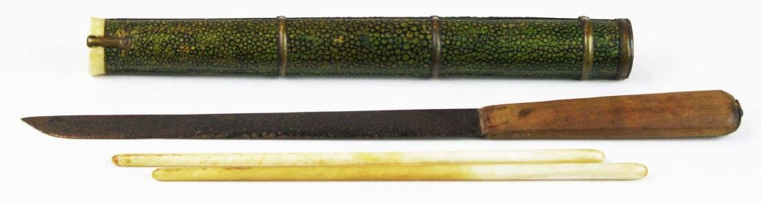19th c Japanese utencil set. - 2