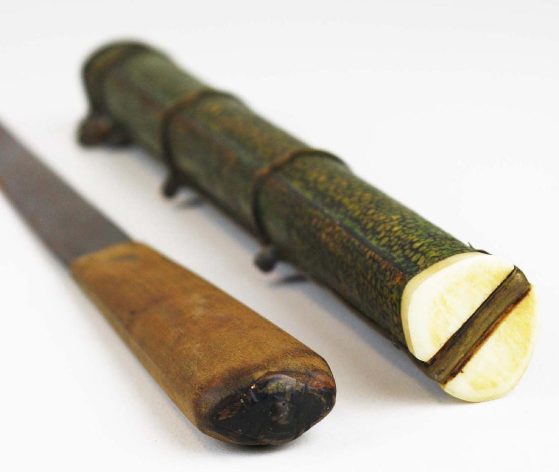 19th c Japanese utencil set. - 6