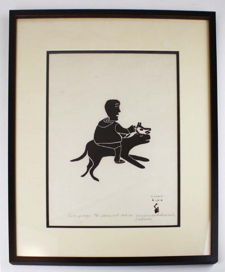 1969 Baker Lake print by Mummookshoarluk