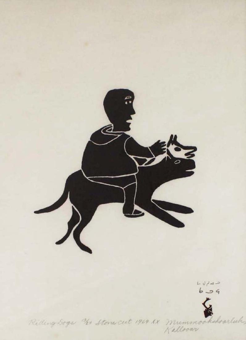 1969 Baker Lake print by Mummookshoarluk - 2