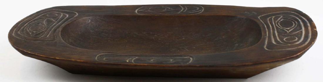 Northwest Coast Haida carved wooden tray - 2