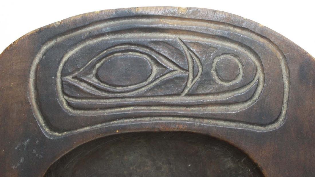 Northwest Coast Haida carved wooden tray - 3
