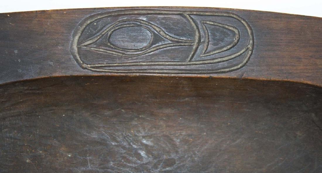 Northwest Coast Haida carved wooden tray - 4