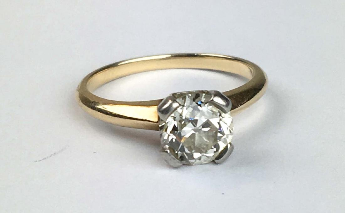 14k y g diamond engagement ring