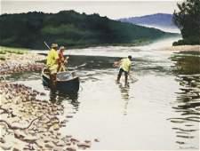 Churchill Ettinger (AM 1903-84) Netting the Catch