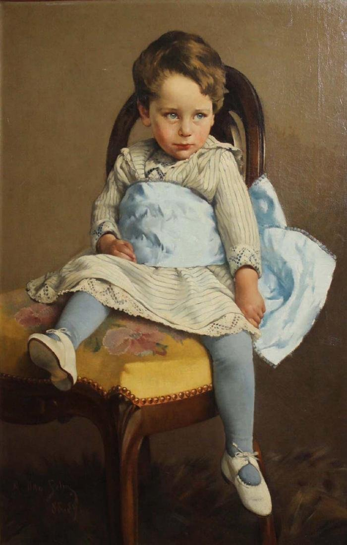 A Otto Selig  portrait of a young boy